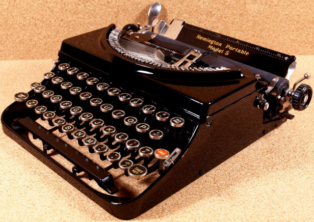 SOLD! *NEW* Remington Model 5 Portable With Huge Gothic Font!