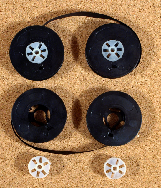 "Two(2) - 1/2"" Ribbon on 2"" universal spools for 95% of all manual typewriters"